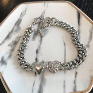 Guess Silver Heart Bracelet
